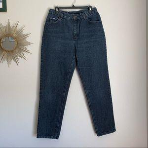 Vintage Lee Black High Rise Mom Jeans Size 14